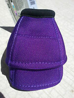 Classic Equine DYNOHYDE 2520D No Turn Bell Boots Horse Tack PURPLE