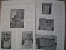 Photo article on ancient baptism baptismal fonts 1904