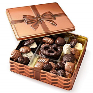 Chocolate Gift Basket , Gourmet Snack Food Box in Keepsake Tin, Great for Family