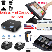 New mini Fanless Pc, 2 x printers Pos Point of Sale System Combo Kit Retail