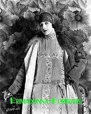 ARLETTE MARCHAL 8x10 Lab Photo 1920s Detailed Gown, Amazing Outfit Portrait