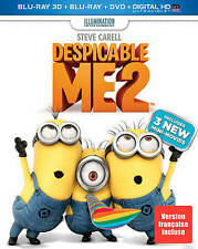 Despicable Me 2 (Blu-ray/DVD, 2013, 2-Disc Set, Canadian 3D)