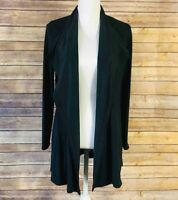 Stitch Fix Laila Jayde Womens Small Open Front Duster Cardigan Black Long Sleeve