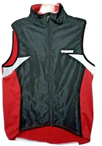 Pearl Izumi Vest Mens L Biking Cycling Fleece Lined Red Reflective Full Zip