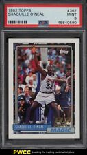 1992 Topps Basketball Shaquille O'Neal ROOKIE RC #362 PSA 9 MINT