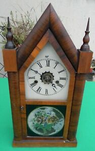 Vintage E N Welch 30 Hour Mantel Shelf Steeple Clock
