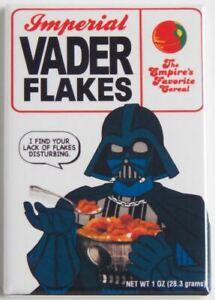 """Vader Flakes MAGNET 2"""" x 3"""" Refrigerator or Locker Vintage star wars cereal"""