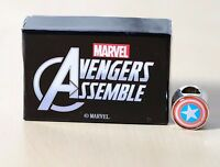 MARVEL COMIC Avengers CAPTAIN AMERICA Shield Charm Bead fits major brands Biagi