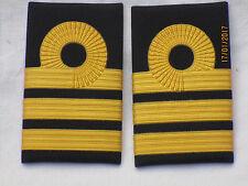 Shoulder Marks Royal Navy, Commander, English Navy, Gold on Black