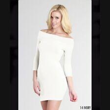 Nikibiki Ivory Off Shoulder Body Dress One Size