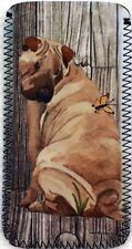 SHAR PEI WATERCOLOUR PAINTING PRINT GLASSES CASE POUCH  SANDRA COEN ARTIST