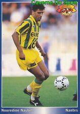 139 NOUREDINE NAYBET MAROC MOROCCO FC.NANTES CARD CARTE FOOTBALL 1995 PANINI