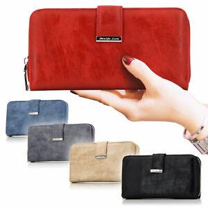 Damen groß Portemonnaie mit vielen Kartenfächer Geldbörse Geldbeutel Brieftasche