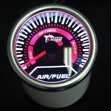 "Pointer 2"" 52mm Car Universal Smoke Len LED Air/Fuel Ratio Gauge Meter"