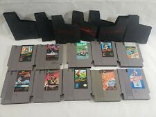 Lot Of 10 Nes Games Tested Working with 7 sleeves