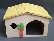 Chinchilla Guinea Pig Wooden House Rodents Pet Cage Hamster Bed Rabbit Ferret