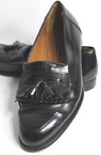 Bostonian Florentine Men's Size 10.5 M Black Leather Tassel Loafer Made in Italy