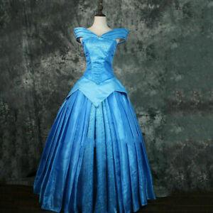 Sleeping Beauty dress adult princess Aurora blue dress ball gown custom made &