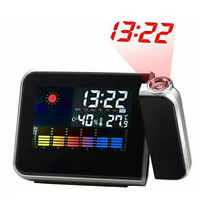 Projection Digital Weather LCD Snooze Alarm Clock Color Display LED New Arrival