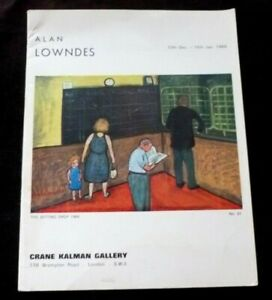ALAN LOWNDES Recent paintings   1966 ART EXHIBITION CATALOGUE