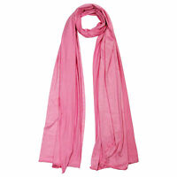 Plain Pink Rose Lightweight Rectangle Women's Scarf Jersey Hijab