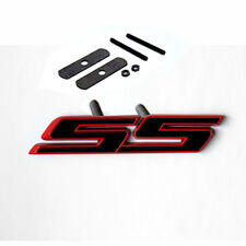 1x OEM Grille SS Emblem Badge 3D For Camaro Chevy series Red line Lu