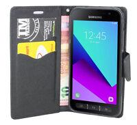 Book-Style Handy Hülle Etui FANCY Schwarz für Samsung Galaxy Xcover 4 G390F@COFI