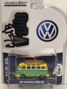 RARE 1964 Volkswagen Samba Bus 1:64 Scale Greenlight 29960B