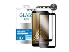 Samsung Galaxy A6 (2018) Pack de 2 films protection écran en verre trempé (Noir)