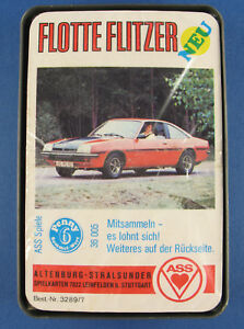 Quartett - FLOTTE FLITZER - ASS 3289/7 - NEU in Folie - 1976 - Auto Kartenspiel