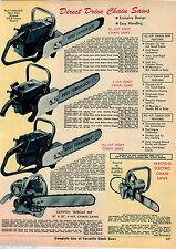 1968 ADVERT Root Lumberjack Chain Saw Clinton Bobcat