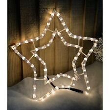 Christmas LED Rope Light Up Nativity Star Indoor Window Decoration Outdoor Wall