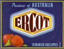 "SALE- Vintage Tasmania Apple Case Labels Fruit Art Poster ""baker's dozen-H"" (13)"