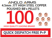 Anglo arms 100 steel 4.5mm high polished BB's pellets round copper .177 metal