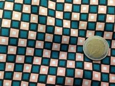 coupon de tissu  PUR coton imprimé  damier canard rose    3.00 m ; Ref  MO
