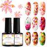 7ML MEET ACROSS Blossom Gel Nail Polish Flower Soak off UV Varnish Manicure Art