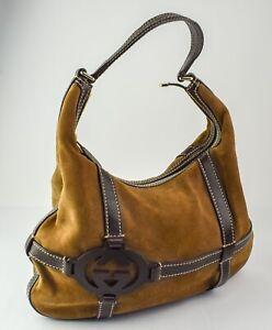 Gucci Brown Suede 181500 2123 Royal Hobo Shoulder Bag - ND4