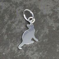 925 Sterling Silver CAT CHARM 10mm (for jewellery making, bracelets, earrings)