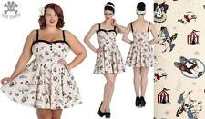 Hell Bunny Mini Circus Rockabilly Pinup Swing Retro Vintage Dress 2XL-4XL