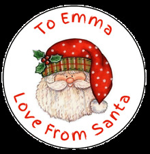 Personalised Love From Santa Seals Stickers Labels Christmas Gifts Presents L007