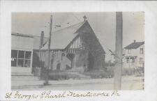 St George's Church Nanticoke PA handsome vintage Real Photo RPPC postcard unused