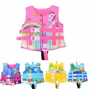 Children Kids Girl Life Jacket Swim Swimming Floating Vest Suit for 2-12 Years