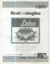 "(SFBK84) ADVERT 15X11"" LOTUS BY R.E.M. SINGLE AT HMV"