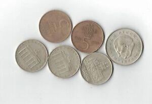 Lot DDR Médailles de Commémoration 5 x 5 Mark Meissen Porte Brandebourg 1 x 20