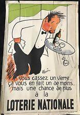 """GUÉRIN R LOTERIE NATIONALE """"VOUS CASSEZ UN VERRE..."""" 1956"""