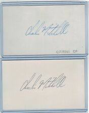 (2) CHARLIE MITCHELL INDEX CARD SIGNED 1984-85 BOSTON RED SOX PSA/DNA CERTIFIED
