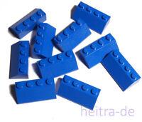 LEGO - 10 x Dachstein / Dachsteine 45 Grad 2x4 blau / Blue Slope / 3037 NEUWARE