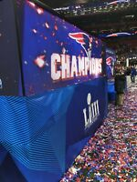 NEW ENGLAND PATRIOTS 8 SUPER BOWL 53 LOMBARDI CONFETTI Pieces From The Field!