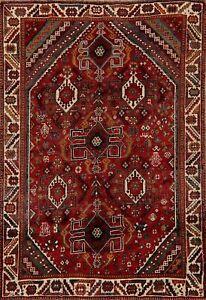 Vintage Nomad Lori Geometric Area Rug Hand-Knotted Tribal Oriental Carpet 5x7