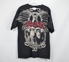 Aerosmith Mens Medium Spell Out Graphic 2010 World Tour Concert T Shirt Black